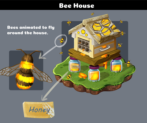 Bee House Building Concept Art