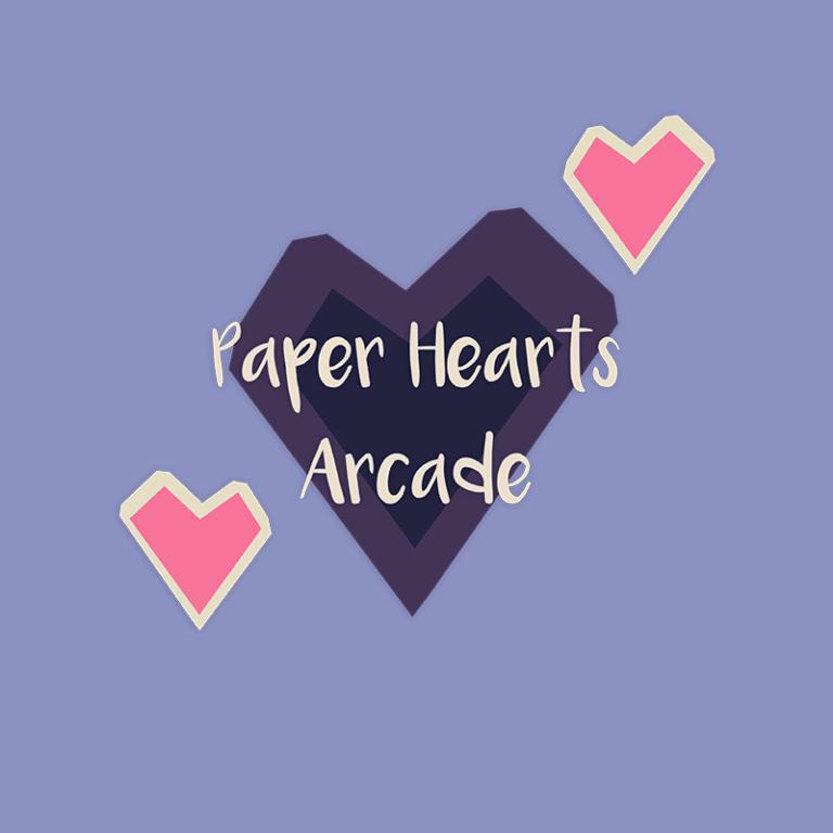 Paper Hearts Arcade Logo Design