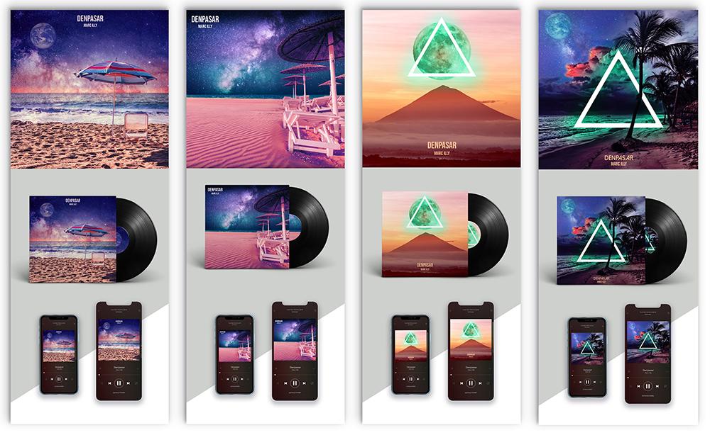 EDM Cover Art Concept Designs