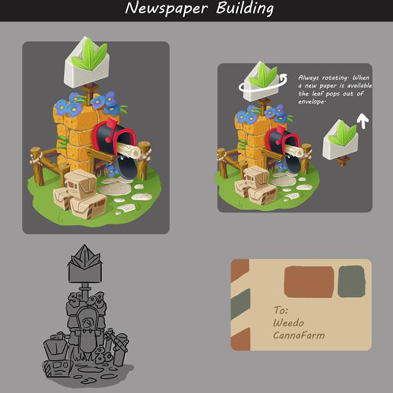 Newspaper Building Concept Art