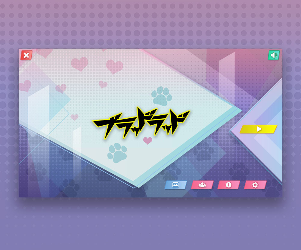 Anime Game UI Design