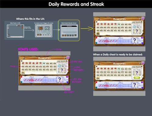 Loot Box Daily Login UI Design
