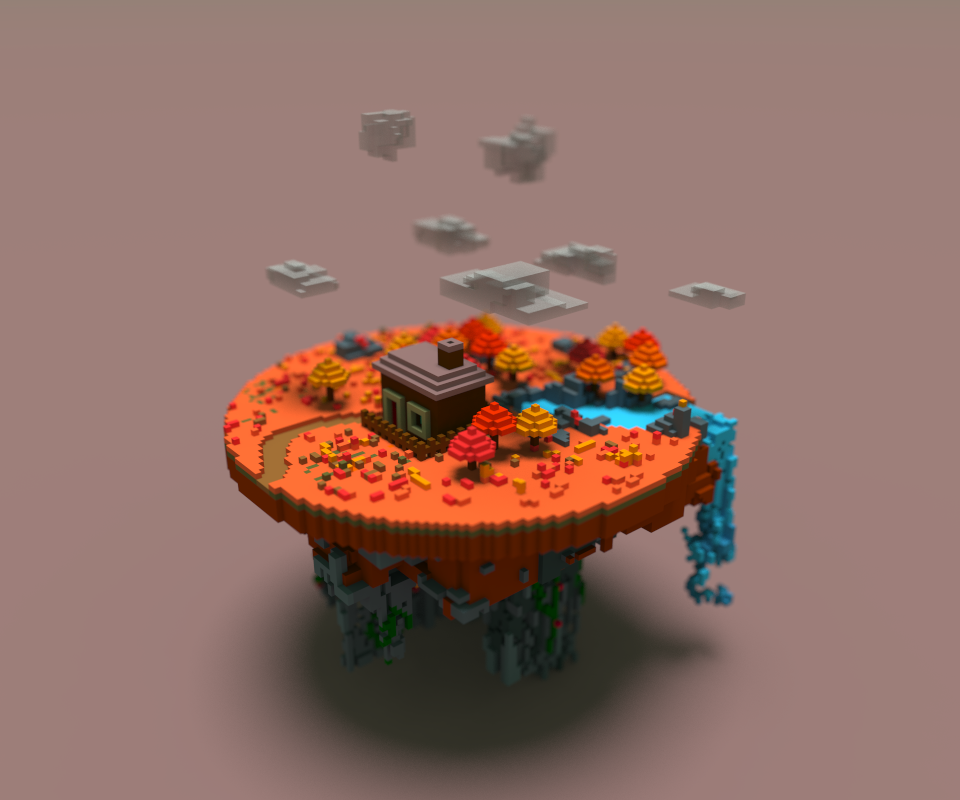 Lonely House Voxel Model