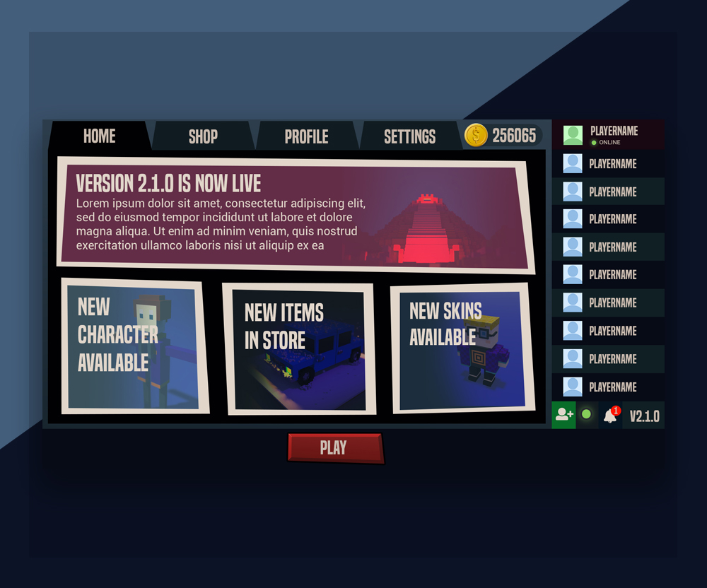 Battle Royale FPS UI Design