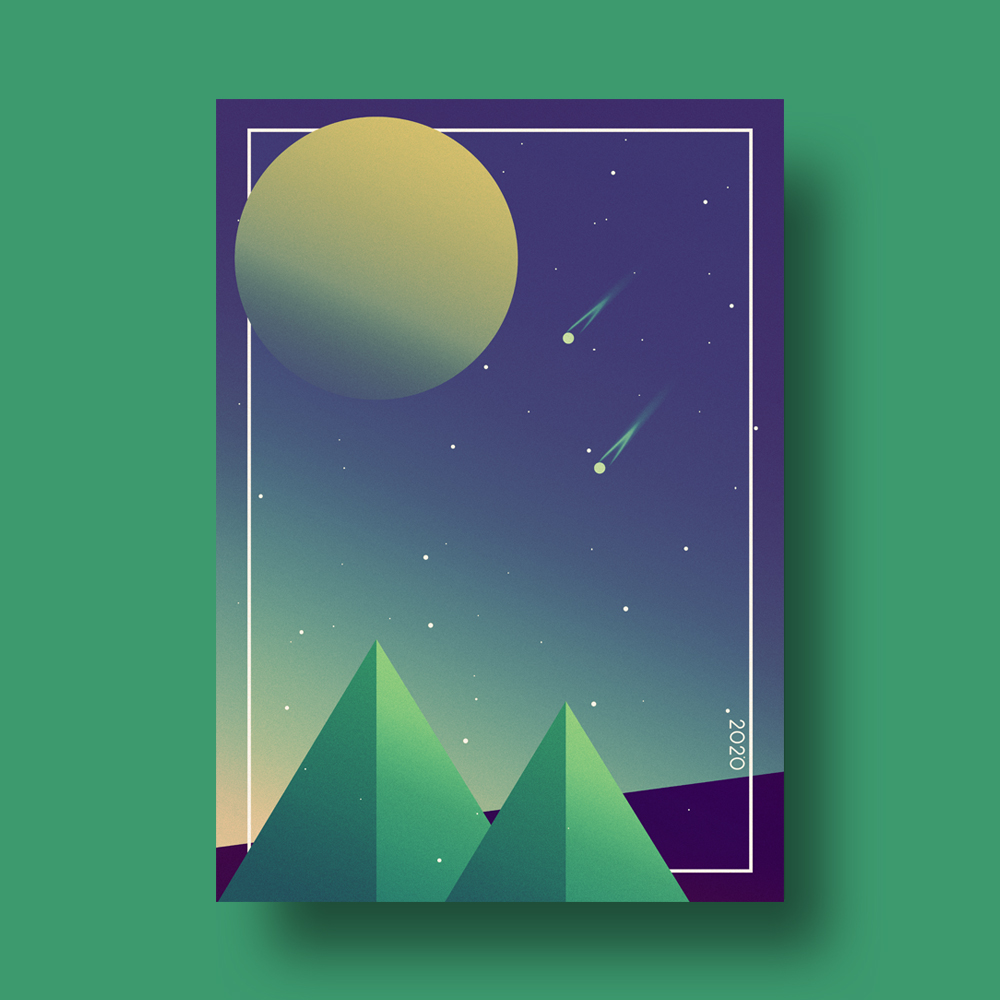 Minimal Space Poster Illustration
