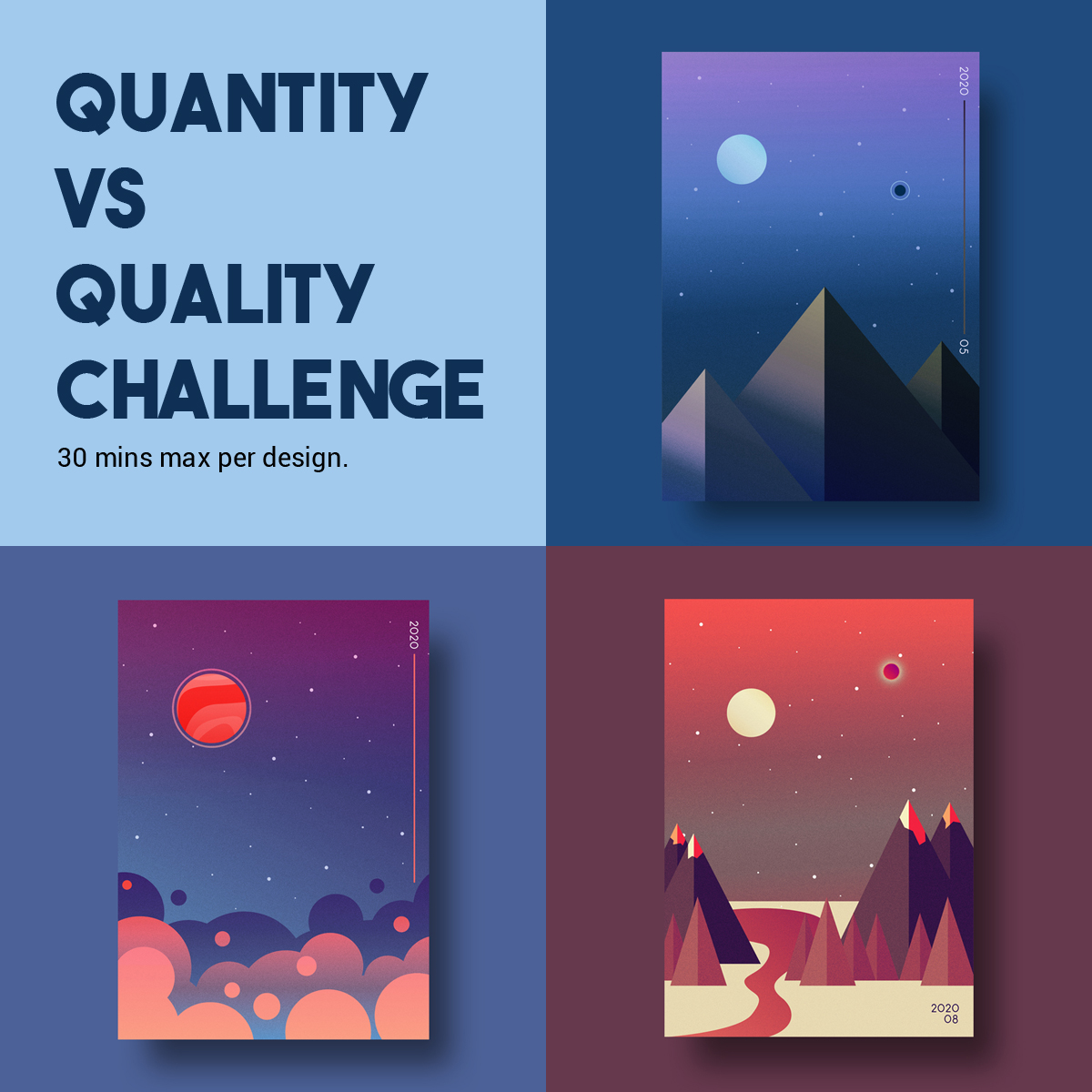 Quantity Vs Quality Project: Illustrated Posters January